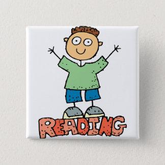 Reading Is Fun 15 Cm Square Badge