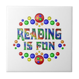 Reading is Fun Ceramic Tile