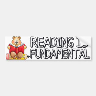 Reading is Fundamental Bumper Sticker
