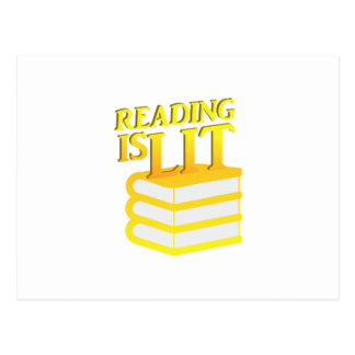 Reading Is Lit Funny Literacy Gift Postcard