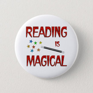 Reading is Magical 6 Cm Round Badge