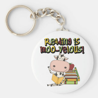 Reading is Moo-velous Keychains