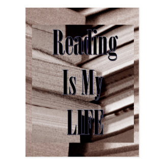 Reading Is My Life Postcard