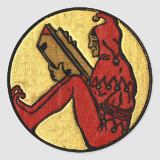 Reading Jester Classic Round Sticker