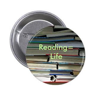 Reading Life Pins