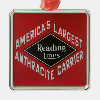 Reading Lines America's Largest Anthracite Carrier Metal Ornament