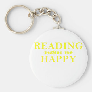 Reading Makes Me Happy Key Ring