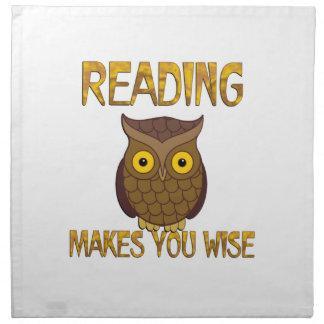 Reading Makes You Wise Printed Napkin