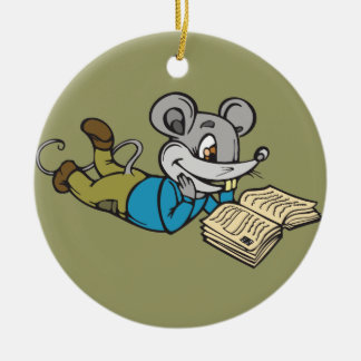 Reading Mouse Christmas Tree Ornaments