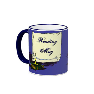 Reading Mug Vintage Book with Candle