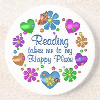 Reading My Happy Place Coaster