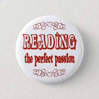 Reading Passion 6 Cm Round Badge