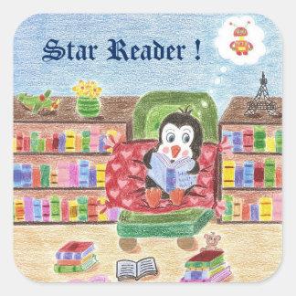 Reading penguin , Star Reader , reward stickers