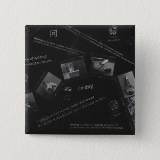 Reading Photogram 15 Cm Square Badge