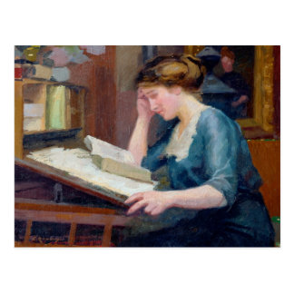 Reading Postcard