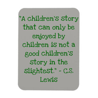Reading Quote Magnet C.S. Lewis Children's Story