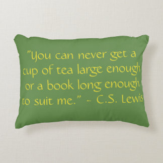 Reading Quotes Pillow C.S. Lewis
