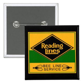 Reading Railroad, Bee Line Service 15 Cm Square Badge