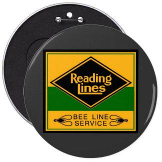 Reading Railroad,Bee Line Service 6 Cm Round Badge