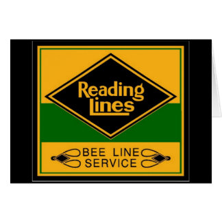 Reading Railroad,Bee Line Service Card