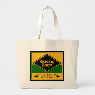 Reading Railroad,Bee Line Service Jumbo Tote Bag