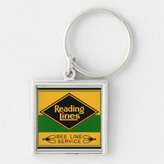 Reading Railroad, Bee Line Service Silver-Colored Square Keychain