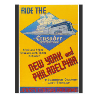Reading Railroad Crusader Train 1937 Postcard