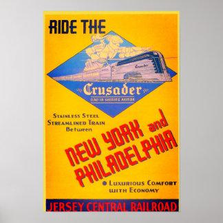 Reading Railroad Crusader Train 1937 Poster