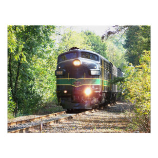 Reading Railroad Lines FP7 Diesel Locomotive 902 Poster