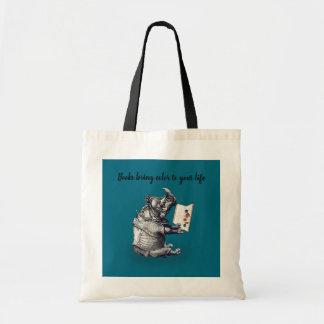 Reading Rhinoceros loves books Tote Bag