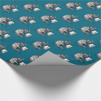 Reading Rhinoceros loves books Wrapping Paper