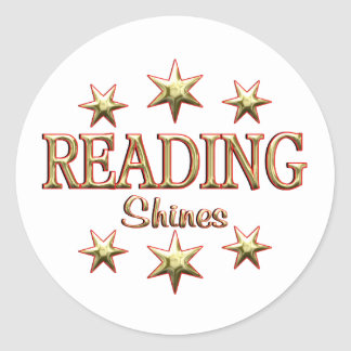 Reading Shines Classic Round Sticker