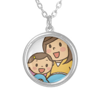 Reading Together Silver Plated Necklace