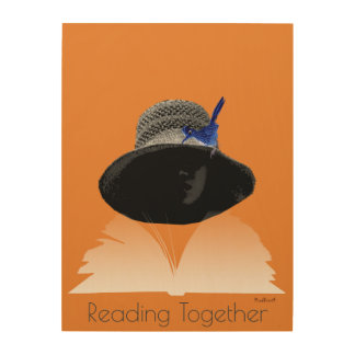Reading Together Wood Wall Art
