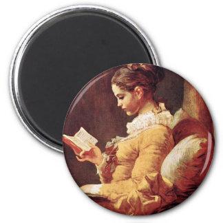 Reading Women By Fragonard, Jean-Honoré (Best Qual Magnet