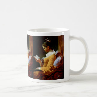 Reading Women By Fragonard Jean-Honoré (Best Quali Coffee Mug