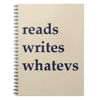reads writes whatevs notebook typewrter