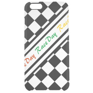 Ready 4 Race Day Classic Racing Check Black White Clear iPhone 6 Plus Case