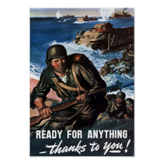 Ready For Anything -- World War 2 Poster