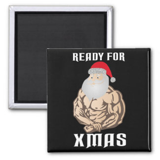 Ready for christmas muscle Santa Claus Magnet
