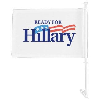 Ready for Hillary car flag