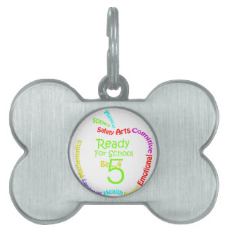 Ready for School B4Five - Apple Pet ID Tags