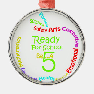Ready for School B4Five - Apple Silver-Colored Round Decoration