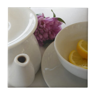 ready for tea small square tile