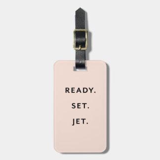 Ready, Set, Jet Peach Luggage Tag