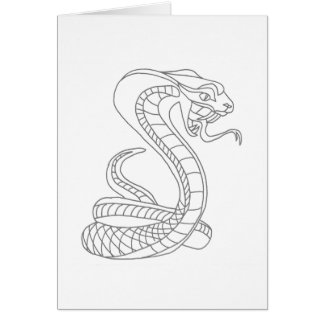 Ready to Color Cobra Greeting Card