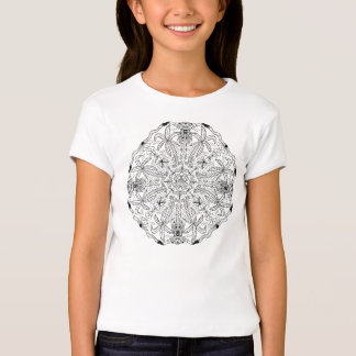 Ready to Color Palm Trees Girl's Top Shirt
