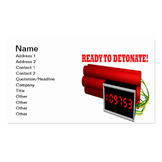 Ready To Detonate Business Card