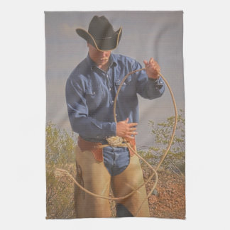Ready to Draw Kitchen Towel Western Cowboy