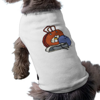 ready to go bowling equipment graphic sleeveless dog shirt